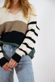 tints & stripes knit