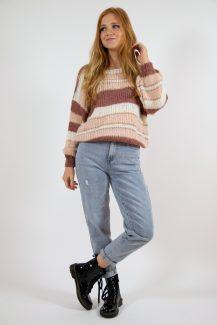 pink tones knit