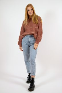 dusty pink knit