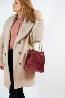 velvet & chain bag