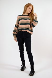 glitter & green knit