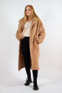 soft camel teddy coat