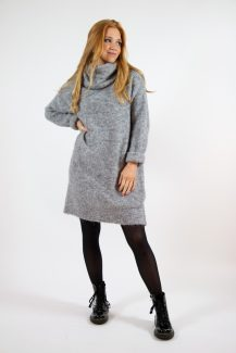 grey collar winter dress