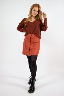 fall color buttoned skirt