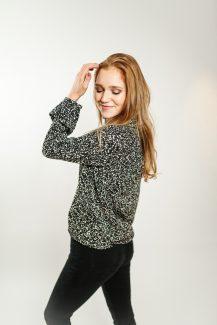sparkle black blouse