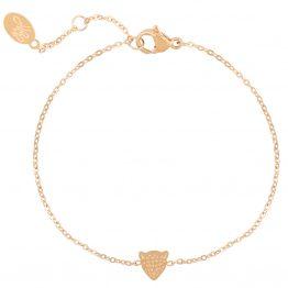 cute leo bracelet gold