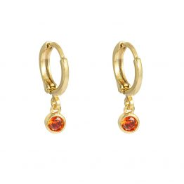 peachy earrings gold