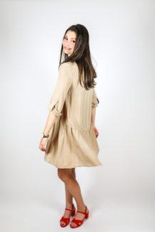 loose beige dress