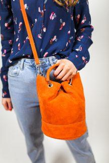 orange pouch bag