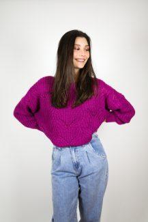 bright purple knit