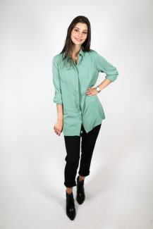 loose mint blouse