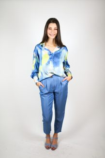 satin aquarel blouse