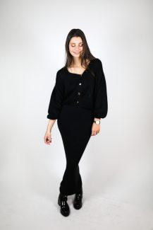 black mohair knit