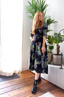 cute floral wrap dress