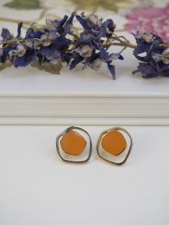 orange & gold studs