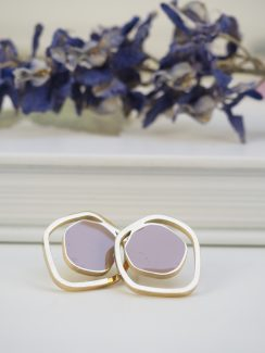 taupe & gold studs