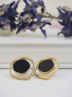 black & gold studs