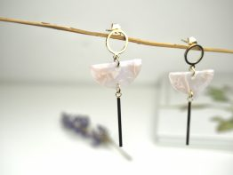 small pink drop earrings