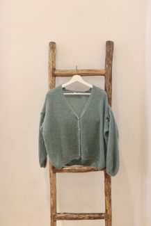 dark mint knit