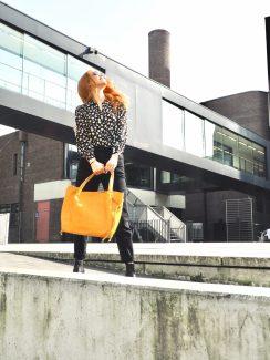 yellow shopper bag