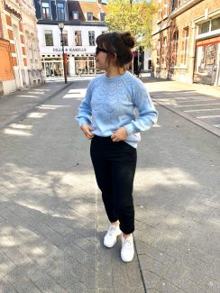 baby blue knit