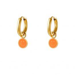 smiley hoops orange